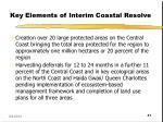 key elements of interim coastal resolve