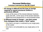 personal reflection lessons learned on the bc coast