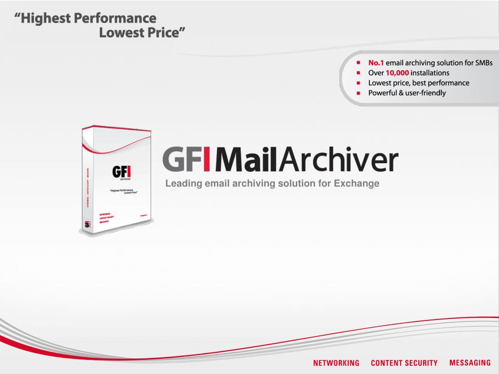 leading email archiving solution for exchange l.
