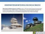 obserwatorium meteorologiczne na nie ce