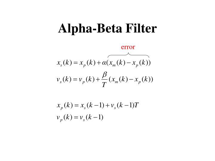 Alpha beta filter summary of the book
