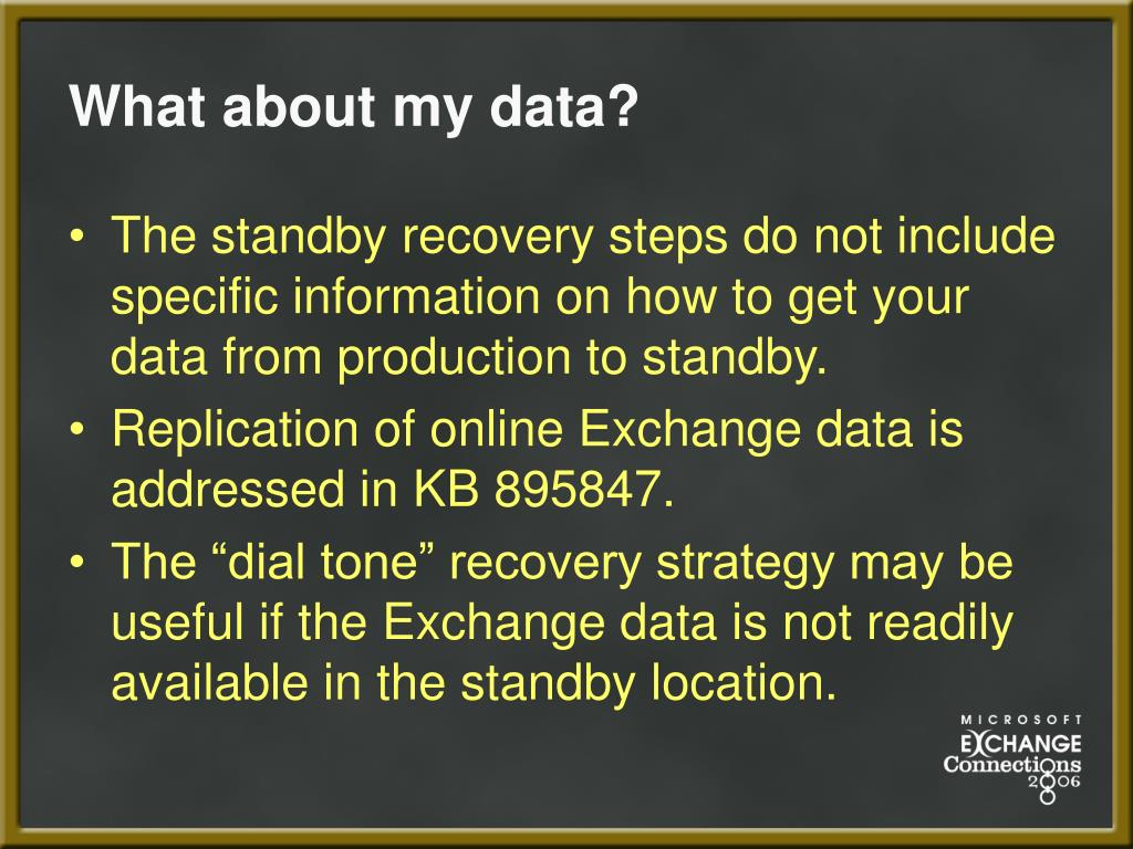 What about my data?