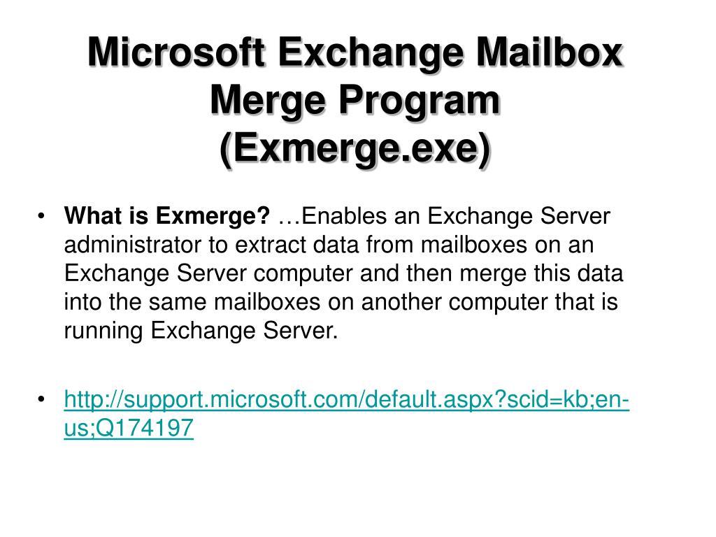 Microsoft Exchange Mailbox
