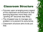 classroom structure