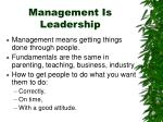 management is leadership