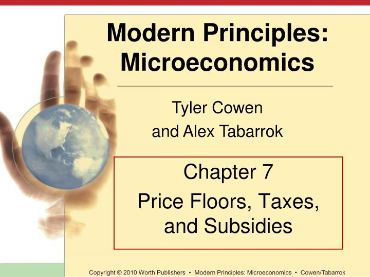 chapter 7 price floors taxes and subsidies n.