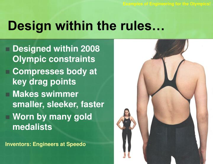 design within the rules n.