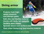 skiing armor