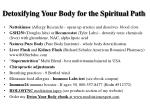 detoxifying your body for the spiritual path