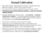 sexual cultivation