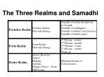 the three realms and samadhi