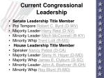 current congressional leadership