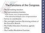 the functions of the congress