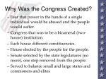 why was the congress created