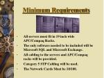 minimum requirements