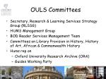 ouls committees