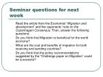seminar questions for next week