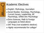 academic electives