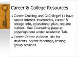 career college resources