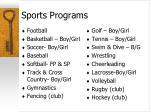 sports programs