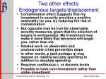 two other effects endogenous targets displacement
