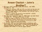 anson claxton john s brother