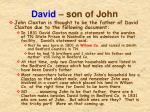 david son of john