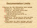 documentation limits