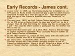 early records james cont1