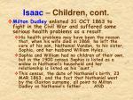 isaac children cont