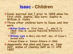 isaac children