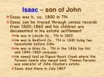 isaac son of john