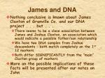 james and dna