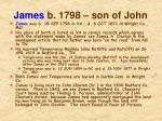 james b 1798 son of john