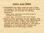 john and dna
