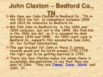 john claxton bedford co tn