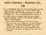 john claxton sumner co tn
