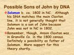 possible sons of john by dna1