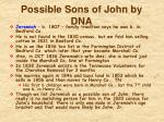 possible sons of john by dna2