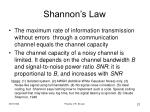 shannon s law