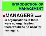 introduction of management
