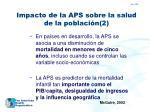 impacto de la aps sobre la salud de la poblaci n 2