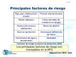 principales factores de riesgo