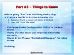 part 3 things to know