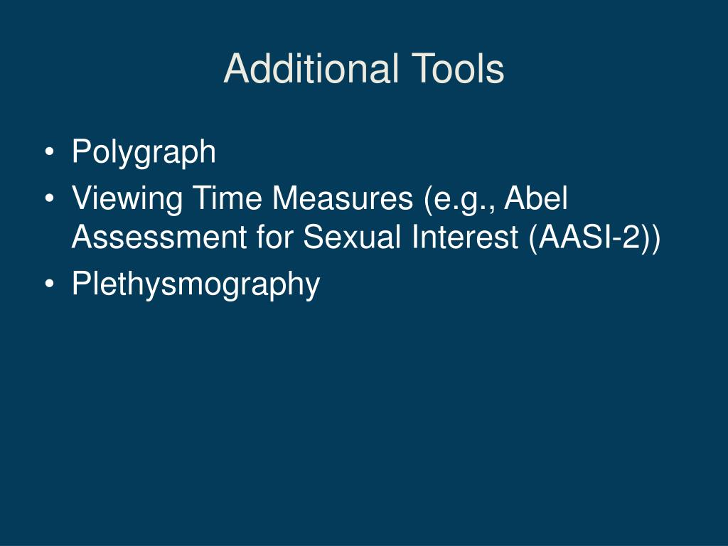 polygraph sex offender assessment tools in High Point