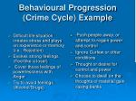 behavioural progression crime cycle example