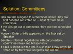 solution committees