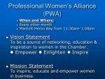 professional women s alliance pwa
