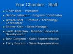 your chamber staff