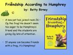 friendship according to humphrey by betty birney